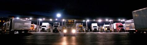 truck stop at nite